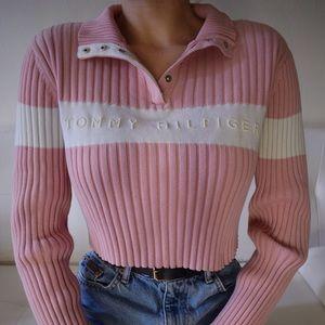 Vintage Tommy Hilfiger pink sweater